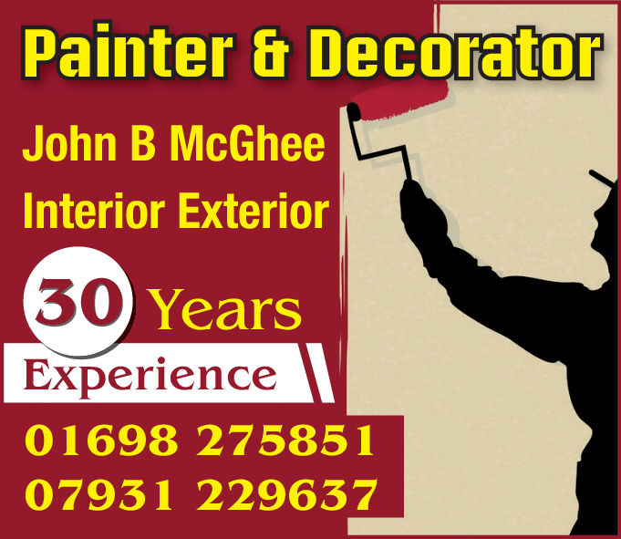 Painter& DecoratorJohn B McGheeInterior Exterion30 YearsExperience01698 27585107931 229637