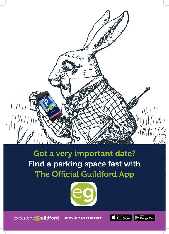 Got a very important date?Find a parking space fast withThe Official Guildford Appexperienc uildfordDOWNLOAD FOR FREE!·t AppStore |Google Play