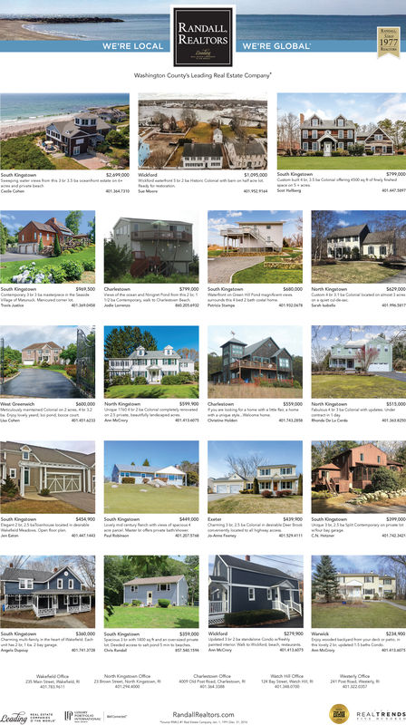 1977REALTORS WE'RE GLOBALWE'RE LOCALWashington County's Leading Real Estate Company134138