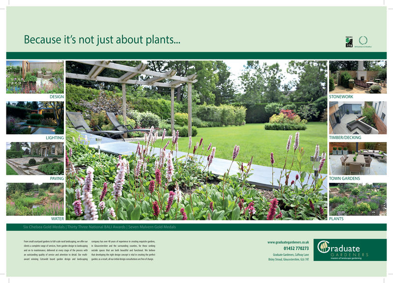 Because it's not just about plants..DESIGNSTONEWORKLIGHTINGTIMBER/DECKINGGPAVINGTOWN GARDENSPLANTSWATERBALIl Awards |Sevenwww.gradutegardenerraduateGARDENERS01452 770273Grade Gardenens Calay Lane Because it's not just about plants.. DESIGN STONEWORK LIGHTING TIMBER/DECKINGG PAVING TOWN GARDENS PLANTS WATER BALI l Awards |Seven www.gradutegardener raduate GARDENERS 01452 770273 Grade Gardenens Calay Lane