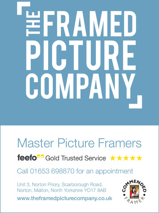 FRAMEDPICTURECOMPANYMaster Picture Framerseefoe Gold Trusted Service     Call 01653 698870 for an appointmentUnit 3, Norton Priory, Scarborough Road,Norton, Malton, North Yorkshire YO17 8ABwww.theframedpicturecompany.co.uk
