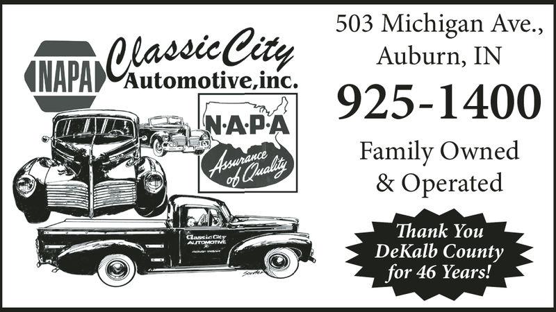 503 Michigan Ave.,Auburn, ININPA Automotive ine 925-1400Family Owned& OperatedThank YoiuDeKalb Countyfor 45 Years!dassic