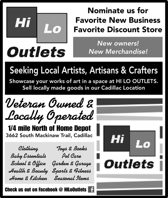 Cadillac News Business Directory: Coupons, Restaurants