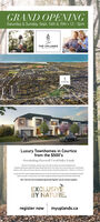 GRAND OPENINGSaturday & Sunday, Sept. 14th & 15th 12-5pmTHE UPLANDSLuxury Townhomes in Courticefrom the $500'sOverlooking Farewell CreckValley Landseome to The pnds apet o the mid dabatcoimunty i Courtcertua ting hwds and at df he moder dayt-day amentes you could possblynee are a shet wa or ne asay Descover a fartasc selection of towhome designs trm 1358 s 3.5spart of heA Courdlye wh acom tHap47and 1m.ay and the Dhaad vAns tun 15 muy hiptona towhome beg omth the bet f bothrDon't miss this much anticipoted opportunityt Register now for exclusive updotesEXCLUSIVEBY NATUREregister now myuplands.caRK GRAND OPENING Saturday & Sunday, Sept. 14th & 15th 12-5pm THE UPLANDS Luxury Townhomes in Courtice from the $500's Overlooking Farewell CreckValley Lands eome to The pnds apet o the mid dabatcoimunty i Courtce rtua ting hwds and at df he moder dayt-day amentes you could possbly nee are a shet wa or ne asay Descover a fartasc selection of towhome designs trm 1358 s 3.5s part of heA Courdlye wh acom tHap47and 1m.ay and the Dhaad vA ns tun 15 muy hi ptona towhome beg omth the bet f bothr Don't miss this much anticipoted opportunityt Register now for exclusive updotes EXCLUSIVE BY NATURE register now myuplands.ca RK