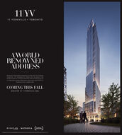 11YV11 YORKVILLETORONTOAWORLDRENOWNEDADDRESSReminiscent of the masterful menopolis era of New York Cay's londmorkarchiecture, 11V reinterpres this imeless style The droma of thefoçode increases os it rises from street level, stone ond steel giving wayto a sloek glass envelope reflecting the vibrant ubon scene of the cityExperience lfe on a global scale.COMING THIS FALLREGISTER AT 11YORKVILLE.COMRIO CANMETROPIAAPITALHYBOENTLIVING 11YV 11 YORKVILLE TORONTO AWORLD RENOWNED ADDRESS Reminiscent of the masterful menopolis era of New York Cay's londmork archiecture, 11V reinterpres this imeless style The droma of the foçode increases os it rises from street level, stone ond steel giving way to a sloek glass envelope reflecting the vibrant ubon scene of the city Experience lfe on a global scale. COMING THIS FALL REGISTER AT 11YORKVILLE.COM RIO CAN METROPIA APITAL HYBOENT LIVING