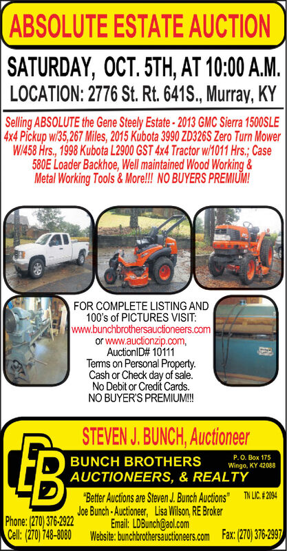 """ABSOLUTE ESTATE AUCTION