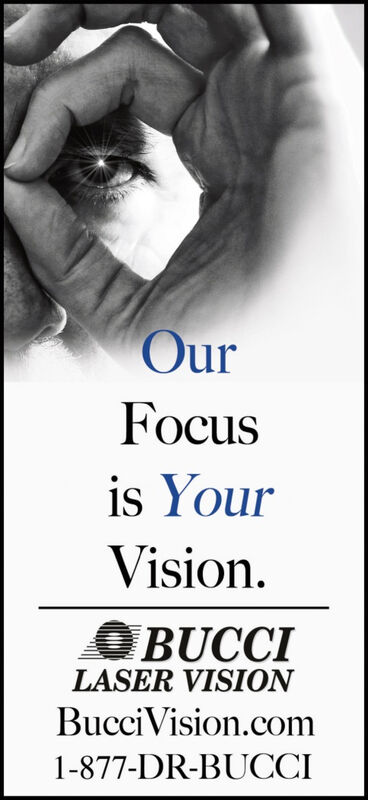 OurFocusis YourVisionBUCCILASER VISIONBucciVision.com1-877-DR-BUCCI Our Focus is Your Vision BUCCI LASER VISION BucciVision.com 1-877-DR-BUCCI
