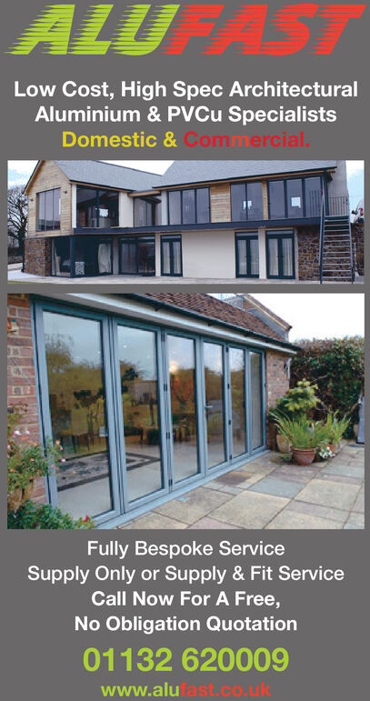 ALU ASTLow Cost, High Spec ArchitecturalAluminium & PVCU SpecialistsDomestic & CommercialFully Bespoke ServiceSupply Only or Supply&Fit ServiceCall Now For A Free,No Obligation Quotation01132 620009www.alufastco.uk ALU AST Low Cost, High Spec Architectural Aluminium & PVCU Specialists Domestic & Commercial Fully Bespoke Service Supply Only or Supply&Fit Service Call Now For A Free, No Obligation Quotation 01132 620009 www.alufastco.uk