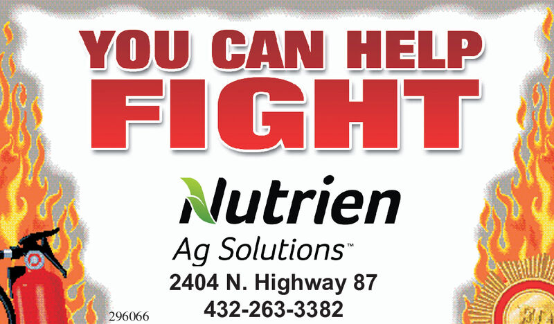 YOU CAN HELPFIGHTNutrienAg Solutions2404 N. Highway 87432-263-3382296066 YOU CAN HELP FIGHT Nutrien Ag Solutions 2404 N. Highway 87 432-263-3382 296066