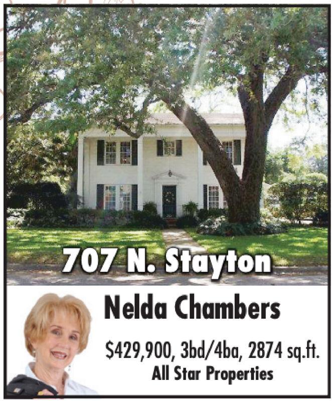 707 N StaytonNelda Chambers$429,900, 3bd/4ba, 2874 sq.ftAll Star Properties 707 N Stayton Nelda Chambers $429,900, 3bd/4ba, 2874 sq.ft All Star Properties