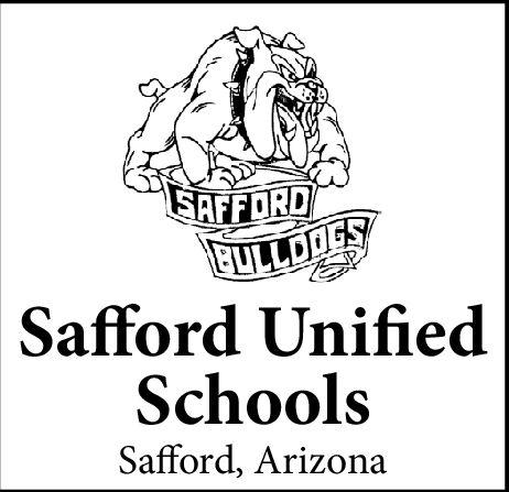 SAFFORDBULLDOGSSafford UnifiedSchoolsSafford, Arizona SAFFORD BULLDOGS Safford Unified Schools Safford, Arizona
