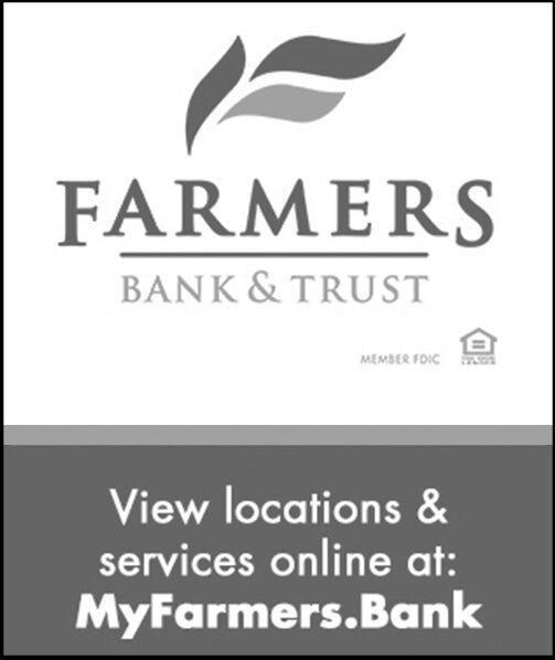 FARMERSBANK & TRUSTMEMBER FDICView locations&services online at:MyFarmers.Bank FARMERS BANK & TRUST MEMBER FDIC View locations& services online at: MyFarmers.Bank