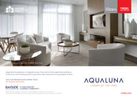 TRIDEL2019 OHBAProject of the YonrAqualunaHinesBUILT FOR LIFECALial hotography of Aquarista's Penthouse Model SuiteExperience the splendour of Lakeside Living. Come and tour the magnificent penthousemodel suite, and immerse yourself in panoramic lake views and stunning designer finishes.AQUALUNAVISIT THE PRESENTATION CENTRE TODAY261 Queens Quay EastLUXURY BY THE LAKEBAYSIDEA HINES MASTERPLANNED COMMUNITYTORONTO02019 Tridel is a registered Trademark of Tridel Corporation. Project names and logos areTrademaris of their respective owners. All rights reserved. Ilustrations are artist's concept only. E&OEtridel.com TRIDEL 2019 OHBA Project of the Yonr Aqualuna Hines BUILT FOR LIFE CAL ial hotography of Aquarista's Penthouse Model Suite Experience the splendour of Lakeside Living. Come and tour the magnificent penthouse model suite, and immerse yourself in panoramic lake views and stunning designer finishes. AQUALUNA VISIT THE PRESENTATION CENTRE TODAY 261 Queens Quay East LUXURY BY THE LAKE BAYSIDE A HINES MASTER PLANNED COMMUNITY TORONTO 02019 Tridel is a registered Trademark of Tridel Corporation. Project names and logos are Trademaris of their respective owners. All rights reserved. Ilustrations are artist's concept only. E&OE tridel.com