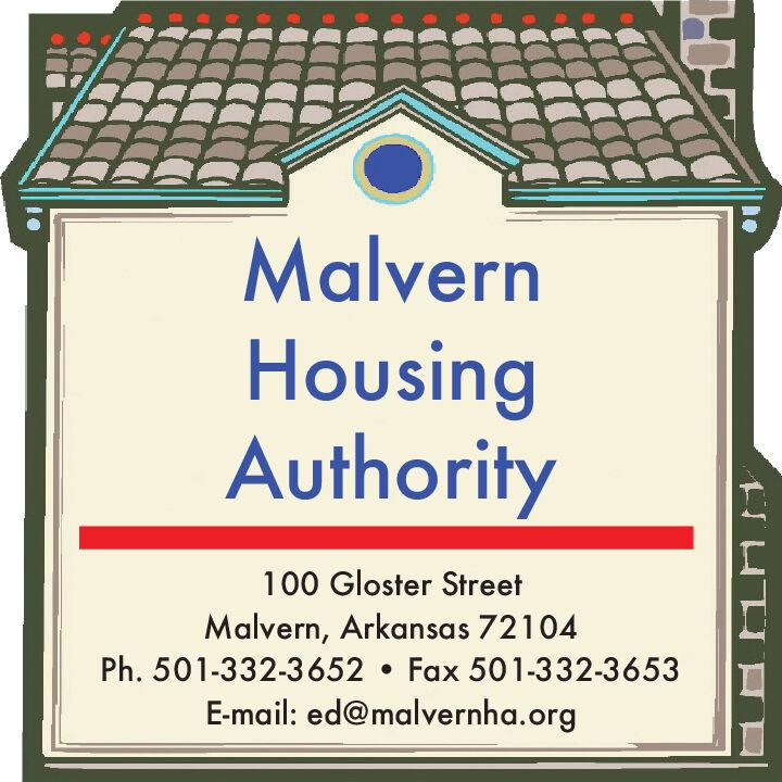 MalvernHousingAuthority100 Gloster StreetMalvern, Arkansas 72104Ph. 501-332-3652Fax 501-332-3653E-mail: ed@malvernha.org Malvern Housing Authority 100 Gloster Street Malvern, Arkansas 72104 Ph. 501-332-3652 Fax 501-332-3653 E-mail: ed@malvernha.org