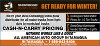 """SNOWDOGGGET READY FOR WINTER!SNOW PLOWSSnowDoggWe're your local Snowdogg snow plowdistributor for all make trucks from lightduty to municipal trucksCASH-N-CARRY PRICINGRedesigned MDIIVMDIIPlows for 1/2 Ton TrucksSnowDogg IlluminatorHeated LED Plow LightsNOTHING WORKS LIKE A DOGG""""TMALL AMERICAN AUTO GROUP IN TAMAQUAIN TAMAQUA 1-888-843-8406YOUR AUTHORIZED SNOWDOGG DISTRIBUTORNEW NEW SNOWDOGG GET READY FOR WINTER! SNOW PLOWS SnowDogg We're your local Snowdogg snow plow distributor for all make trucks from light duty to municipal trucks CASH-N-CARRY PRICING Redesigned MDIIVMDII Plows for 1/2 Ton Trucks SnowDogg Illuminator Heated LED Plow Lights NOTHING WORKS LIKE A DOGG"""" TM ALL AMERICAN AUTO GROUP IN TAMAQUA IN TAMAQUA 1-888-843-8406 YOUR AUTHORIZED SNOWDOGG DISTRIBUTOR NEW NEW"""
