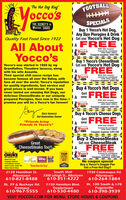 """MM""""The Hot Dog King""""FOOTBALLocco'sSPECIALSBuy 1 Yocco's Hot Dog,Any ize Pierogies & DrinkI Get one Yocco's Hot Dog ITHE SECRET'S inYocco's SAUCEQuality Fast Food Since 1922IA FREEAll AboutYocco'swh this coupon.Cannot be combinedwith other offers.occo'sCoupon expires 3/01/20Buy 1 Yocco's CheeseSteakI Get one Yocco's Hot DogYocco's was started in 1922 by myGrandfather, Theodore lacocca, alongIA FREEwith his wife Assunta.Their special chili sauce recipe hasbecome famous all over the Valley, withfans all over the world. Yocco's reputationfor quality ingredients, fast service andgreat prices is well known. If you havenever tasted our amazing Hot Dogs, ourdelicious CheeseSteaks or our uniquelyprepared Pierogies, then now is the time. Ipromise you will be a Yocco's fan forever!with this coupon.Cannot be combinedwith other offers.occo'sCoupon expires 3/01/20Buy 4 Yocco's Hot DogsGet FREEILA onewith this coupon.Cannot be combinedwith other offers.occo'sCoupon expires 3/01/20Buy 4 Yocco's Cheese DogsGary lacocca3rd Generation Owner""""Friends bringFriends to Yocco's""""IA onewith this coupon.occo'sCannot be combinedwith other ofers.Coupon expires 3/01/20Buy 3 CheeseSteaksGet one CheeseSteakGreatCheeseSteaks Too!!FREEIAReelenWith this coupon.Cannot be combinedwith other offers.occo'sTOPWORKPLACESCoupon expires 3/01/20styeTHE MORNING CALLBest hot dogFastest takeout Friendliest service Best Lunch under S6 Best french triesWho BEST2019No coupon specialBuy a Yocco's Doggie PacGet a Free Hot Dog!!2019HE""""Voted Best Hot Dog""""South Mall3300 Lehigh St., Allentown610-351-42221930 Catasauqua Rd.2128 Hamilton St.Allentown610-264-1884Allentown610-821-8488Rt. 100 South & 1-78Rt. 29 & Buckeye Rd.Emmaus610-967-55557150 Hamilton Blvd.Fogelsville610-398-3939Trexlertown610-530-4480VISIT YOCCOS.COM FOR MENU, STORE HOURS & COUPONS MM """"The Hot Dog King"""" FOOTBALL occo's SPECIALS Buy 1 Yocco's Hot Dog, Any ize Pierogies & Drink I Get one Yocco's Hot Dog I THE SECRET'S in Yocco's SAUCE Quality Fast Food Sinc"""