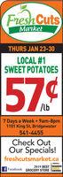 Fresh CutsMarketTHURS JAN 23-30LOCAL #1SWEET POTATOES57.¢/lb7 Days a Week 9am-8pm1101 King St, Bridgewater541-4455Check OutOur Specials!freshcutsmarket.caaedker2019 BEST READERSCHOICEFacebook GROCERY STORE TAWARDS Fresh Cuts Market THURS JAN 23-30 LOCAL #1 SWEET POTATOES 57.¢ /lb 7 Days a Week 9am-8pm 1101 King St, Bridgewater 541-4455 Check Out Our Specials! freshcutsmarket.ca aedker 2019 BEST READERS CHOICE Facebook GROCERY STORE TAWARDS