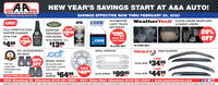 """NEW YEAR'S SAVINGS START AT A&A AUTO!SAVINGS EFFECTIVE NOW THRU FEBRUARY 29, 2020AUTOMOTIVEAUTO STORESTour Hemeten duts Parta Stare Siace 19WeatherTech FLOOR LINERS, MUDFLAPSGUMOUT.EXIDETECHNOLOGIESLIGHT TRUCKBATTERIES& CARGO LINERSHOTSHOTSECIETSAVEFULL THROTTLE FUELSYSTEM CLEANERPart Na. FT200020%OFFTREATMENT S50FOR DIESELPart No. HSSEOTI6Z - 16 a.EVERYDAY$1000EVERY DAYMERYDAOFFSAVELOW PRICE$499 $300NFL ACCESSORIESON SALE!$1395EXIDE""""IN-STORE ONLY*IN-STORE ONLY.lea.GRILL OVERLAYTRAILFX RAIN GUARDS2 DOOR20%WHEEL SKINSPar ie. 200x $3499$9995 Par Ne. axxx $4499OFF Ge your plain pairted Floor matsLicense plates Steering wheel coversAnd more!ONLINE PROMO CODE: JANZOsetfactory wheels, a expensveCustom wheel lookSAVE4 DOORPet $6499$4000Part No. C2CGII62isetea.set of 4CCIMPO9X4630 Broadway St. Allentown (610) 391-9660  2301 Union Blvd. Allentown (610) 821-0303  www.aaautostores.comCopyright c020. Al nights reserved. All text graphics, pictures, logos, and selection and arrangement thereof is exclusive property ef Publisher or content Supplier. No portion of add, incuding images, may regroduced in form without prior witten consent of Publisher Vid hru Febrary 29 NEW YEAR'S SAVINGS START AT A&A AUTO! SAVINGS EFFECTIVE NOW THRU FEBRUARY 29, 2020 AUTOMOTIVE AUTO STORES Tour Hemeten duts Parta Stare Siace 19 WeatherTech FLOOR LINERS, MUDFLAPS GUMOUT. EXIDE TECHNOLOGIES LIGHT TRUCK BATTERIES & CARGO LINERS HOTSHOT SECIET SAVE FULL THROTTLE FUEL SYSTEM CLEANER Part Na. FT2000 20% OFF TREATMENT S50 FOR DIESEL Part No. HSSEOTI6Z - 16 a. EVERYDAY $1000 EVERY DAY MERYDA OFF SAVE LOW PRICE $499 $300 NFL ACCESSORIES ON SALE! $1395 EXIDE """"IN-STORE ONLY *IN-STORE ONLY . lea. GRILL OVERLAY TRAILFX RAIN GUARDS 2 DOOR 20% WHEEL SKINS Par ie. 200x $3499 $9995 Par Ne. axxx $4499 OFF Ge your plain pairted  Floor mats License plates  Steering wheel covers And more! ONLINE PROMO CODE: JANZO set factory wheels, a expensve Custom wheel look SAVE 4 DOOR Pet $6499 $4000 Part No. C2CGII62 iset ea. set"""