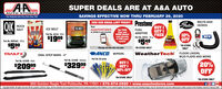 "SUPER DEALS ARE AT A&A AUTOAUTO STORESSAVINGS EFFECTIVE NOW THRU FEBRUARY 29, 2020Teur Hometewn Auts Parts Stere Slace 19sJOIN OUR EMAIL LIST TODAY! PrestoneBUY IGET IFREE$549QIKBELTS ANDSates. HOSESROCKSALTOCE MELTTextICE MELTAAAUTOSTORESFUELGet THISByer andMORE DEALSsent directlyto YOU eachmonth!EMERCANto 22828 to get started.JOEADDITIVEPart No. 30150 - 50 b.10%OFFNEW$1999Part No. AST20 - 16 ozTea.Part No. ROCS001 - 50 b.ea.$599""IN-STORE*IN-STORE ONLYMessage and data rates may apply.ea.ONLY*FLOOR LINERS.MUD FLAPS AND MOREANCO. WIPERSPart No. All seriesTRAILFXWeatherTechOVAL STEP BARS - 4""Part No. A15298 - StainlessPart No. A15298 - Black20%OFFBUY I$32999$20999GET I50% OFFsetset*IN-STORE ONLY*IN-STORE ONLY850 Gordon Nagle Trail Pottsville, PA 17901  570-874-0920  www.aaautostores.comCopyright C2020. All rights reserved. AM tet, graphics, pictures, ogos, and the selection and arrangement thereof is the euclusive property of the Publisher or ts content Supplier. No portion of this add, indluding images. may be reproduced in any form without prior witten consent of the Publisher Void tru February 29th SUPER DEALS ARE AT A&A AUTO AUTO STORES SAVINGS EFFECTIVE NOW THRU FEBRUARY 29, 2020 Teur Hometewn Auts Parts Stere Slace 19s JOIN OUR EMAIL LIST TODAY! Prestone BUY I GET I FREE $549 QIK BELTS AND Sates. HOSES ROCK SALT OCE MELT Text ICE MELT AAAUTOSTORES FUEL Get THIS Byer and MORE DEALS sent directly to YOU each month! EMERCAN to 22828 to get started. JOE ADDITIVE Part No. 30150 - 50 b. 10% OFF NEW $1999 Part No. AST20 - 16 oz Tea. Part No. ROCS001 - 50 b. ea. $599 ""IN-STORE *IN-STORE ONLY Message and data rates may apply. ea. ONLY* FLOOR LINERS. MUD FLAPS AND MORE ANCO. WIPERS Part No. All series TRAILFX WeatherTech OVAL STEP BARS - 4"" Part No. A15298 - Stainless Part No. A15298 - Black 20% OFF BUY I $32999 $20999 GET I 50% OFF set set *IN-STORE ONLY *IN-STORE ONLY 850 Gordon Nagle Trail Pottsville, PA 17901  570-874-0920  www.aaautostores.com Copyright C2020. All rights reserved. AM tet, graphics, pictures, ogos, and the selection and arrangement thereof is the euclusive property of the Publisher or ts content Supplier. No portion of this add, indluding images. may be reproduced in any form without prior witten consent of the Publisher Void tru February 29th"