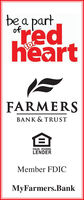 bea partofredheartforFARMERSBANK & TRUSTEQUAL HOUSINGLENDERMember FDICMyFarmers.Bank bea part of red heart for FARMERS BANK & TRUST EQUAL HOUSING LENDER Member FDIC MyFarmers.Bank