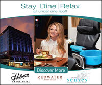 Stay Dine Relaxall under one roof!00Discover MoreTHEAlobmrerREDWATERGRANDsensesRUSTIC GRILLEGRAND HOTELAVEDA CONCEPr/SPA SALON BOUTIQUE Stay Dine Relax all under one roof! 00 Discover More THE Alobmrer REDWATER GRAND senses RUSTIC GRILLE GRAND HOTEL AVEDA CONCEPr/SPA SALON BOUTIQUE