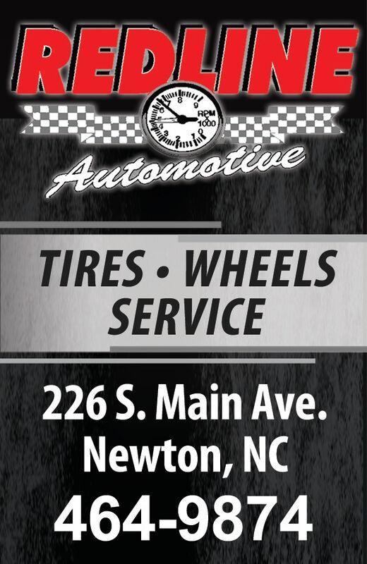 REDLINERPM1000AutomotiveTIRES WHEELSSERVICE226 S. Main Ave.Newton, NC464-9874 REDLINE RPM 1000 Automotive TIRES WHEELS SERVICE 226 S. Main Ave. Newton, NC 464-9874