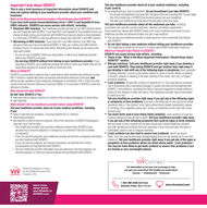 """Important Facts About DOVATOThis is only a brief summary of important information about DOVATO anddoes not replace talking to your healthcare provider about your condition andtreatment.What is the Most Important Information I Should Know about DOVATO?If you have both human immunodeficiency virus-1 (HIV-1) and hepatitis B virus(HBV) infection, DOVATO can cause serious side effects, including: Resistant HBV infection. Your healthcare provider will test you for HBV infection beforeyou start treatment with DOVATO. If you have HIV-1 and hepatitis B, the hepatitis B virus canchange (mutate) during your treatment with DOVATO and become harder to treat (resistant).It is not known if DOVATO is safe and effective in people who have HIV-1 and HBV infection. Worsening of HBV infection. If you have HIV-1 and HBV infection, your HBV mayget worse (lare-up) it you stop taking DOVATO. A """"lare-up"""" is when your HBV infectionsuddenly returns in a worse way than before. Worsening liver disease can be serious andmay lead to death. Do not run out of DOVATO. Refil your prescription or talk to your healthcare providerbefore your DOVATO is all gone. Do not stop DOVATO without first talking to your healthcare provider. If youstop taking DOVATO, your healthcare provider will need to check your health often and doblood tests regularly for several months to check your liver.What is DOVATO?Tell your healthcare provider about all of your medical conditions, includingit you: (cont'd) are breastfeeding or plan to breastfeed. Do not breastfeed if you take DOVATO. You should not breastfeed if you have HIV-1 because of the risk of passing HIV-1 to your baby. One of the medicines in DOVATO (lamivudine) passes into your breastmilk. Talk with your healthcare provider about the best way to feed your baby.Tell your healthcare provider about all the medicines you take, includingprescription and over-the-Counter medicines, vitamins, and herbal supplements.Some medicines interact with DOVATO. Keep a list of yo"""
