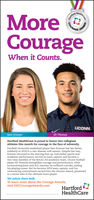 COURAGECourageWhen it Counts.UCONN.Eli ThomasSam KramerHartford HealthCare is proud to honor two collegiateathletes this month for courage in the face of adversity.Fairfield University basketball player Sam Kramer lost her fathersuddenly in 2018 to a rare disease mid-season. Despite her loss,Kramer returned to the starting line-up, had stellar sports andacademic performance, served as team captain and become atwo-time member of the MAAC All-academic team. UConn footballplayer Eli Thomas exemplifies courage and perseverance. Aftersurmounting knee and ACL injuries, he suffered a stroke, endinghis playing career. But he became 2019 team captain, and hisunwavering commitment earned him the Alumni Award, presentedto a senior who is the ultimate team player.We salute them both.To learn more about the Courage Awards,visit HHCCourageAwards.comHartfordHealthCarePropnuethCare.AWARD COURAGE Courage When it Counts. UCONN. Eli Thomas Sam Kramer Hartford HealthCare is proud to honor two collegiate athletes this month for courage in the face of adversity. Fairfield University basketball player Sam Kramer lost her father suddenly in 2018 to a rare disease mid-season. Despite her loss, Kramer returned to the starting line-up, had stellar sports and academic performance, served as team captain and become a two-time member of the MAAC All-academic team. UConn football player Eli Thomas exemplifies courage and perseverance. After surmounting knee and ACL injuries, he suffered a stroke, ending his playing career. But he became 2019 team captain, and his unwavering commitment earned him the Alumni Award, presented to a senior who is the ultimate team player. We salute them both. To learn more about the Courage Awards, visit HHCCourageAwards.com Hartford HealthCare Propnue thCare. AWARD