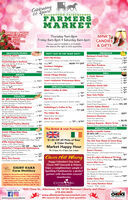 """years!FARMERSMARKETTHE HISTORIC66ALLENTOWN FAIRGROUNDSEST 1953ORDER NOWVålentine3 DayRoses$19.99 Dozen&upThursday 9am-8pmMINK'SCANDIES& GIFTSFriday 8am-8pm  Saturday 8am-6pmPrices valid 2/13/2020 to 2/15/2020We reserve the right to limit quantitiesSEAFOOD/SUSHIPRODUCEHOT! EAT IN OR TAKE OUT!Culinary ExpertsFamous Imperial Crab Cakes,Share the Lovel.Heckenberger's SeafoodGulf Large Srimp 26/30 per ib. 10""""IS lb. box 53Bee Lee SushiParty Trays, $5 OFF.Thursday & Friday: Buy 2 Trays,Get 1 Water or Can of Soda..Bedway's Fresh FruitAsparagus.Large CantaloupesNOW 100 OFF Jumbo MangoesDan's Bar-B-Que.2 Bunches g0246004/50ea. 161/2 Chicken Dinner w/2 Sides, Roll & Butter(Reg 9"""").Southern DelightsRed Barn ProduceBox43$45Florida Strawberries..NEW THIS WEEKIIYellow (lower acid) TomatoesFREECinnabon Cake & Mounds BrowniesDELIMEATSAmish Village KitchenChicken Salad Melt w/Chips & a Pickle.Loan's Authentic Vietnamese BistroS. Clyde WeaverHam HocksAll Sausage Grillers.g"""" Longhom Cheese.Stoltzfus Amish DeliLow Fat Virginia HamTasty Cooper Sharp Cheese.Ib. $3 All Country ScrappleIb. 3 New York PickleBaringer's MeatsFor Your Sweetheart:New York Strip Steaks.Clover Farms Meats99% Lean Ground Sirloin$6Ib. 2""""Ib $4Ib. $5b. $11Pho (Chicken rice-noodle soup)SPECIALTY FOODS(reg ib.Sale Ib.4""""Ib. 6""""Ib. 4Johnny's Fresh MeatsPremium Reserve N.Y. Strip Steak,Mink's Candies & Giftsb. 2""""JuJu Hearts.Mellow Creme Mix.Happy Valentine's Day.17""""POULTRYBaby Comishon Pickles with Onion & Taragon-freg. Ib. '5) This Week ib. 5*Mr. Bill's Fresh & Fancy MarketMr. Bills Roasted Red Pepper & GarlieChicken Sausage or Habanero CheddarChicken SausageMr. Bill's Healthy Deli MarketMr. Bil's Crab & Asparagus StufedChicken BreastsMr. Bil's Potato Stuffed Chicken Breasts orPotato Stutfed Boneless Chicken Legs.Mr. Bill's Poultry MarketBell & Evan's Organic Boneless SkinlessChicken BreastsFairground Poultry MarketRoasted Pepper + Garlic Chicken Sausage.b 3""""Nut HutHoney Cinnamon Almonds or Butter Toffeeb 100Olive of The W"""