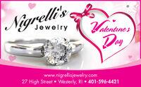 Nigrelli'sYatentnerJewelryaywww.nigrellisjewelry.com27 High Street  Westerly, RI  401-596-4421 Nigrelli's Yatentner Jewelry ay www.nigrellisjewelry.com 27 High Street  Westerly, RI  401-596-4421