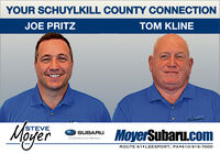 YOUR SCHUYLKILL COUNTY CONNECTIONTOM KLINEJOE PRITZSUBARUMoyerSTEVEMoyerSubaru.comSUBARUConfidence in MotionROUTE 61 LEESPORT, PA+610-916-7000 YOUR SCHUYLKILL COUNTY CONNECTION TOM KLINE JOE PRITZ SUBARU Moyer STEVE MoyerSubaru.com SUBARU Confidence in Motion ROUTE 61 LEESPORT, PA+610-916-7000