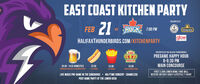EAST COAST KITCHEN PARTYPRESENTED BY21FEBROCK2 7:00 PMVSFOWER DECKglowHALIFAXTHUNDERBIRDS.COM/KITCHENPARTYKINGPRESENTED BY THE HALIFAX THUNDERBIRDSPREGAME HAPPY HOUR6-6:30 PMMAIN CONCOURSEDONAIR$5.00 - 14 0Z DOMESTICS$2.50$3.00$5.00DONEISER, BUD LGHT ALEXANDER KETSALL STANDSALL STANDSKING OF CONAR STANDFIRST 2,500 LOWER BOWL FANS WILLRECEIVE AN EAST COAST LIFESTYLE T-SHIRTLIVE MUSIC PRE-GAME IN THE CONCOURSE + HALFTIME CONCERT - SHAMELESSPOST GAME PARTY AT THE LOWER DECK EAST COAST KITCHEN PARTY PRESENTED BY 21 FEB ROCK 2 7:00 PM VS FOWER DECK glow HALIFAXTHUNDERBIRDS.COM/KITCHENPARTY KING PRESENTED BY THE HALIFAX THUNDERBIRDS PREGAME HAPPY HOUR 6-6:30 PM MAIN CONCOURSE DONAIR $5.00 - 14 0Z DOMESTICS $2.50 $3.00 $5.00 DONEISER, BUD LGHT ALEXANDER KETS ALL STANDS ALL STANDS KING OF CONAR STAND FIRST 2,500 LOWER BOWL FANS WILL RECEIVE AN EAST COAST LIFESTYLE T-SHIRT LIVE MUSIC PRE-GAME IN THE CONCOURSE + HALFTIME CONCERT - SHAMELESS POST GAME PARTY AT THE LOWER DECK