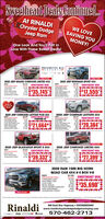 Sweetheart Deals Continued.At RINALDIChrysler DodgeJeep RamWE LOVESAVING YOUMONEY!One Look And You'll Fall InLove With These Sweet Deals!PRESIDENTS DAY.EVENTSTK LOSOSTKI TLO2020 JEEP GRAND CHEROKEE LIMITED 4X42020 JEEP RENEGADE SPORT 4X4DISCOUNTED PRICESWEETHEART DEALSWEETHEART DEALCONSLMER CASHCCAP CAHFRST RESPONDERSELECT INVENTORYGUAANTEED TR35,745*41.000DISCOUNTED PCECONSLMER CASHNON PIME BONUSCCA CAHCCAP NON PIME CASHST RESPONDERSELECT INVENTORYDUARANTEED TRADE$17,555s00.000OVER 20TO CHOOROMSTKI TLOSTK TLO2020 JEEP COMPASS LATITUDE 4X4SWEETHEART DEAL2020 JEEP CHEROKEE LATITUDE PLUS 4X4DCOUNTED mICECONLAR CAHNON ME DONUSs SWEETHEART DEALSTARTING ATDscOUNTED enceCONSUMER CASHOGAP CAHCON NON PME CASHSELECT NENTORY$20,384CCAP NON ME CASHMAC BONUS CASH$21,664*1000-:0004s00WOROT AMENTORYGUAANTEED TADESTRESPONOEROUANTED TRADES0001.000STK TLO2020 JEEP GLADIATOR SPORT S 4x4SA SWEETHEART DEALSTK TLO2020 JEEP CHEROKEE LIMITED 4X4MSAPS SWEETHEART DEAL$42DSCOUNTED PRECONUMER CASHNON PME CASHOCAP CAHCOAP NON PME CAHSELECT NVENTOYFST RESPONCERGNTEED TRADDSCOUNTED PCEBONUS CASHST RESPONDER$39,332$27,399*GUARANTEED TRADe41.00041.0000002020 RAM 1500 BIG HORNQUAD CAB 4X4 6'4 BOX V-8MSRPDISCOUNTED PRICECONSUMER CASHNON PRIME CASHCCAP CASHRETAL BONUSTRUCK OWNER CONQUESTFIRST RESPONDERGUARANTEED TRADES47,200$43,440SWEETHEART DEALS750-$500-$2.000-$1,000-3500$1,000$35,690*STK 17LO37Rinaldi650 Gold Star Highway  SHENANDOAHwww.rinaldichryslerdodgedodgetrucksjeep.comJeep oopa Gaam570-462-2713 Sweetheart Deals Continued. At RINALDI Chrysler Dodge Jeep Ram WE LOVE SAVING YOU MONEY! One Look And You'll Fall In Love With These Sweet Deals! PRESIDENTS DAY .EVENT STK LOSO STKI TLO 2020 JEEP GRAND CHEROKEE LIMITED 4X4 2020 JEEP RENEGADE SPORT 4X4 DISCOUNTED PRICE SWEETHEART DEAL SWEETHEART DEAL CONSLMER CASH CCAP CAH FRST RESPONDER SELECT INVENTORY GUAANTEED TR 35,745* 41.000 DISCOUNTED PCE CONSLMER CASH NON PIME BONUS CCA CAH CCAP NON PIME CASH ST RESPONDER SELECT INVENTORY DUARANTEED TRADE $17,555 s00 .000 OVER 20 TO CHOO ROM STKI TLO STK TLO 2020 JEEP COMPASS LATITUDE 4X4 SWEETHEART DEAL 2020 JEEP CHEROKEE LATITUDE PLUS 4X4 DCOUNTED mICE CONLAR CAH NON ME DONUS s SWEETHEART DEAL STARTING AT DscOUNTED ence CONSUMER CASH OGAP CAH CON NON PME CASH SELECT NENTORY $20,384 CCAP NON ME CASH MAC BONUS CASH $21,664* 1000 -:000 4s00 WOROT AMENTORY GUAANTEED TADE STRESPONOER OUANTED TRADE S000 1.000 STK TLO 2020 JEEP GLADIATOR SPORT S 4x4 SA SWEETHEART DEAL STK TLO 2020 JEEP CHEROKEE LIMITED 4X4 MSAP S SWEETHEART DEAL $42 DSCOUNTED PRE CONUMER CASH NON PME CASH OCAP CAH COAP NON PME CAH SELECT NVENTOY FST RESPONCER GNTEED TRAD DSCOUNTED PCE BONUS CASH ST RESPONDER $39,332 $27,399* GUARANTEED TRADe 41.000 41.000 000 2020 RAM 1500 BIG HORN QUAD CAB 4X4 6'4 BOX V-8 MSRP DISCOUNTED PRICE CONSUMER CASH NON PRIME CASH CCAP CASH RETAL BONUS TRUCK OWNER CONQUEST FIRST RESPONDER GUARANTEED TRADE S47,200 $43,440 SWEETHEART DEAL S750 -$500 -$2.000 -$1,000 -3500 $1,000 $35,690* STK 17LO37 Rinaldi 650 Gold Star Highway  SHENANDOAH www.rinaldichryslerdodgedodgetrucksjeep.com Jeep oopa Gaam 570-462-2713