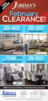 "JORDAN'SFINALHOME FURNISHINGS LTD.WEEKENDFebruaryCLEARANCE!20-40%%20-50%OFFPalliser Leather FurnitureFlexsteel FurniturePALLISERFLEXSTEELHOME$74910 Colours ToChoose FromREG S108925-50NOWOFFLa-Z-Boy Rowan ReclinerCanadel Solid Wood DiningLABOYANew Minas Location OlyO HandeCanadelFREE Furniture Delivery in Mainland Nova Scotia!""JORDAN'SNer MinasNoar Open in Halifax/HOME FURNISHINGS LTD.jordansfurnishings.com9108 COMMERCIAL ST,NEW MINAS(1-800)-681-744542 OTTER LAKE CT.BAYERS LAKE PARKHALFAX(1-833)-405-7445Men d unSe 95 S 15wited Febieetesengeatdon Oernd Sundas ebrry , while qut lanben ohe t m JORDAN'S FINAL HOME FURNISHINGS LTD. WEEKEND February CLEARANCE! 20-40%% 20-50% OFF Palliser Leather Furniture Flexsteel Furniture PALLISER FLEXSTEEL HOME $749 10 Colours To Choose From REG S1089 25-50 NOW OFF La-Z-Boy Rowan Recliner Canadel Solid Wood Dining LABOY ANew Minas Location Oly O Hande Canadel FREE Furniture Delivery in Mainland Nova Scotia!"" JORDAN'S Ner Minas Noar Open in Halifax/ HOME FURNISHINGS LTD. jordansfurnishings.com 9108 COMMERCIAL ST, NEW MINAS (1-800)-681-7445 42 OTTER LAKE CT. BAYERS LAKE PARK HALFAX (1-833)-405-7445 Men d un Se 95 S 15 wited Febieetes engeatdon Oernd Sundas ebrry , while qut lan ben ohe t m"