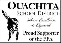 QUACHITASCHOOL DISTRICTWhere Excellencevis EupecetedProud Supporterof the FFA QUACHITA SCHOOL DISTRICT Where Excellence vis Eupeceted Proud Supporter of the FFA