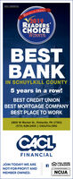 CACL FINANCIALREPUBLICAN HERALD2019READERSCHOICEWINNERBESTBANKIN SCHUYLKILL COUNTY5 years in a row!BEST CREDIT UNIONBEST MORTGAGE COMPANYBEST PLACE TO WORK1800 W Market St., Pottsville, PA 17901(570) 628-2400 | CACLFCU.ORGCACLFINANCIALJOIN TODAY! WE AREEQUAL HOUSINGLENDERNOT-FOR-PROFIT ANDMEMBER OWNED.NCUA CACL FINANCIAL REPUBLICAN HERALD 2019 READERS CHOICE WINNER BEST BANK IN SCHUYLKILL COUNTY 5 years in a row! BEST CREDIT UNION BEST MORTGAGE COMPANY BEST PLACE TO WORK 1800 W Market St., Pottsville, PA 17901 (570) 628-2400 | CACLFCU.ORG CACL FINANCIAL JOIN TODAY! WE ARE EQUAL HOUSING LENDER NOT-FOR-PROFIT AND MEMBER OWNED. NCUA