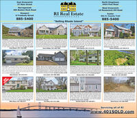 """East Greenwich37 Main StreetNorth Kingstown6454 Post RoadNarragansett483 Boston Neck RoadWest Greenwich16 Nooseneck Hill RoadRI Real EstateNewport8 Freebody Street885-5400Exeter561 S. County Trail885-5400SERVICES""""Selling Rhode Island""""North ingstwn- Te Searchs Overhe Gor le 25 fmes Prc CoonaQuier C De Sac ath The hen o Nove leer Orsaning Ors tereat0 Oested Laneona Pemium Aoe Maicured Seting An Entertainers Delghe This Testetly pt HoneOfes Ope Feor Pat Centraerteods-age Fem koom Stne Frepace Leslat ight- Cn 1 ft Wak in Patry Sonos Sunound Saund M2 akNorth Kingstawn - Nearing completion Ongins desgn ombined wthadyramiterior maie this quality construde """"Rednoi Tungis Bulders tome out of theordnary. The 3,000 Rand is complete wth an amaing foor pan. This bedrnomah is an entetainers delght. Bnght and open Gourmet chen features a large centerland, ariess sted applances anda y dnng area that leads te an oversand deckThe vichen overlooksthe freplaced famly room tha sarng celing. The Mester sutewth large wakin doont and spa-lke bath th beautfu se showe wth tamelenglas and to shower heads This sutr i arate. 131 Brigade Drive. 5775,000Dana Phillips   401-323-1220North Kingstownwg se ve pnde. First foor ofengand be story foifenplace, home offot forial dningom. Seonddubie vnts whiro t and b akb, be adobonal bedroons wh Met, cond foor famly nan and ndry toom23 Midnight Court. $669,000Ruming rdonal in Sooum Wod. Anot 00tocelings, coen mouldngs, hatood foorsaness, tily on eth soeling, fomal ing n ad powdereng mon, akin stowe, yantea guet rom th euteNarragansett - Three bedroom two bach Cape with defnnte potentialfor four bedrooms, There are two large bedrooms up with a full bath,then a fiest fioor bedroom and a first-floor den which is currentlybeing used as a dining room (has cleset) first foor offers anotherful bath, hardwood foors sunroom with cathedral celings, beautifuwindows and wood stove. All on an OVERSIZED LOT. Newer root49 Conanicus Road. $429,900offers spacos mateSecandi"""