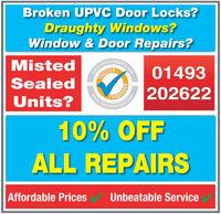 Broken UPVC Door Locks?Draughty Windows?Window & Door Repairs?MistedwwW.TRUSTTRUSTEDUSTATRADER.COSealed01493HADESMIENwww.TRUSTAUnits?R.COMTATBADERA20262210% OFFALL REPAIRSAffordable PricesUnbeatable Service Broken UPVC Door Locks? Draughty Windows? Window & Door Repairs? Misted wwW.TRUST TRUSTED USTATRADER.CO Sealed 01493 HADESMIEN www.TRUSTA Units? R.COM TATBADERA 202622 10% OFF ALL REPAIRS Affordable Prices Unbeatable Service