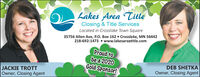 Lakes Area TitleClosing & Title ServicesLocated in Crosslake Town Square35756 Allen Ave, P.O. Box 162  Crosslake, MN 56442218-692-1473  www.lakesareatitle.comProud tobea 2020Gold Sponsor!DEB SHETKAOwner, Closing AgentJACKIE TROTTOwner, Closing Agent Lakes Area Title Closing & Title Services Located in Crosslake Town Square 35756 Allen Ave, P.O. Box 162  Crosslake, MN 56442 218-692-1473  www.lakesareatitle.com Proud to bea 2020 Gold Sponsor! DEB SHETKA Owner, Closing Agent JACKIE TROTT Owner, Closing Agent