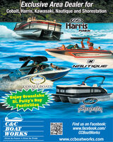 Exclusive Area Dealer forCobalt, Harris, Kawasaki, Nautique and ShorestationHarrisFloteBoteNAUTIG UECOBALT BOATSEnjoy Crosslakest. Patty's DayFestivitiesBarlettaC&CBOATWORKSFind us on Facebook:www.facebook.com/CCBoatWorksFirst In Power  First In Pridewww.ccboatworks.com Exclusive Area Dealer for Cobalt, Harris, Kawasaki, Nautique and Shorestation Harris FloteBote NAUTIG UE COBALT BOATS Enjoy Crosslake st. Patty's Day Festivities Barletta C&C BOAT WORKS Find us on Facebook: www.facebook.com/ CCBoatWorks First In Power  First In Pride www.ccboatworks.com