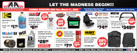 """LET THE MADNESS BEGIN!!AUTO STORESGet Weekly Specials Sent Text AAAUTOSTORES TOo 22828Directly to Your Inbox:SAVINGS EFFECTIVE NOW Thru March 31, 2020POWER PS. SAVETeur Hemsies keta Parts Stere Slace 1ALL AUTOMOTIVENORTHWEST WESTINBULL BARHEYSTONEINTERSTATE BATTERIESBATTERIESNEWSERVICEDIESEL FUELSUPPLEMENT+CETANE BOOSTPart Ne. 1025 - 32 az.$699SEAT COVERSHEATED SEAT COVERUniversal bucket seatwith heated seat cushionPart No. 1301ATTBLKsj00SAVEWASHER FLUIDGood to -20*Part Na. 1205 $179 Textured powder coated Back steel; 3"""" with skid plate andPart No. 323875LOISINTERSTATEOFF$400020"""" single row 15-led light bar1 Gallon$7495$34999ea.*IN-STORE ONLYea.ea.CARRY OUT OILCHANGE SPECIAL5 Quarts Mobil super syntheticoil and a wix fiterMobil 1 WIXRUST ANDCORROSIONFILMFLUIDHUSKYLINERS""""IN-STORE ONLYMobilFLOOR LINERS,MUD FLAPSAND MOREINHIBITORILTERSProtect metal camponents and providecorosion protection from beth naturalPart Na. AS $749 $1504630 Broadway St. Allentown (610) 391-9660  www.aaautostores.com  2301 Union Blvd. Allentown (610) 821-030320%$2695VALUE UP TO S5.00and industrial atnospheresSAVEOFFea.OIL FILTER RETAILWIX1.75 az.*IN-STORE ONLYCopyright con0. A rights reserved. Al t, graphics, pictures, logos, and the selection and arrangement herpof is exclusive property of t Publisher or content Suppler. No portion of th add, inctuding images, may reproduced in n without prior writen coment of h Publisher Valid thru March 31st LET THE MADNESS BEGIN!! AUTO STORES Get Weekly Specials Sent Text AAAUTOSTORES TOo 22828 Directly to Your Inbox: SAVINGS EFFECTIVE NOW Thru March 31, 2020 POWER PS. SAVE Teur Hemsies keta Parts Stere Slace 1 ALL AUTOMOTIVE NORTHWEST WESTIN BULL BAR HEYSTONE INTERSTATE BATTERIES BATTERIES NEW SERVICE DIESEL FUEL SUPPLEMENT +CETANE BOOST Part Ne. 1025 - 32 az. $699 SEAT COVERS HEATED SEAT COVER Universal bucket seat with heated seat cushion Part No. 1301ATTBLK sj00 SAVE WASHER FLUID Good to -20* Part Na. 1205 $179  Textured powder coated  Back steel; 3"""" wit"""