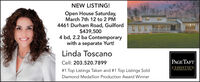 NEW LISTING!Open House Saturday,March 7th 12 to 2 PM4461 Durham Road, Guilford$439,5004 bd, 2.2 ba Contemporarywith a separate Yurt!Linda ToscanoCell: 203.520.7899PAGE TAFTCHRISTIE'S# 1 Top Listings Taken and #1 Top Listings SoldINTERNATIONAL REAL ESTATEDiamond Medallion Production Award Winner NEW LISTING! Open House Saturday, March 7th 12 to 2 PM 4461 Durham Road, Guilford $439,500 4 bd, 2.2 ba Contemporary with a separate Yurt! Linda Toscano Cell: 203.520.7899 PAGE TAFT CHRISTIE'S # 1 Top Listings Taken and #1 Top Listings Sold INTERNATIONAL REAL ESTATE Diamond Medallion Production Award Winner