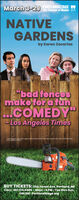 """March 3-29 PORTLANDSTAGE WThe Theater of Maine SNNATIVEGARDENSby Karen Zacarías""""bad fencesmake for a funCOMEDY""""- Los Angeles TimesCost Picted Joeorio Agulu ovia Chave mond couro Houc Mach Tebo AM r AEAPhoto by Mcal MtonBUY TICKETS: 25A Forest Ave, Portland, MECALL: 207.774.0465 Noon-6 PM Tue thru Sun.ONLINE: PortlandStage.org March 3-29 PORTLANDSTAGE W The Theater of Maine SN NATIVE GARDENS by Karen Zacarías """"bad fences make for a fun COMEDY"""" - Los Angeles Times Cost Picted Joeorio Agulu ovia Chave mond couro Houc Mach Tebo AM r AEA Photo by Mcal Mton BUY TICKETS: 25A Forest Ave, Portland, ME CALL: 207.774.0465 Noon-6 PM Tue thru Sun. ONLINE: PortlandStage.org"""
