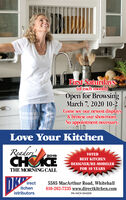 First Saturdays(of each month)Open for BrowsingMarch 7, 2020 10-2Come see our newest displays& browse our showroom.No appointment necessary.Love Your KitchenReadersCHICE2019VOTEDBEST KITCHEN- DESIGNER/RE-MODELER-THE MORNING CALLFOR 10 YEARSDKirectitchen5585 MacArthur Road, Whitehall610-262-7235 www.directkitchen.comistributorsPA HIC# 004209 First Saturdays (of each month) Open for Browsing March 7, 2020 10-2 Come see our newest displays & browse our showroom. No appointment necessary. Love Your Kitchen Readers CHICE 2019 VOTED BEST KITCHEN - DESIGNER/RE-MODELER- THE MORNING CALL FOR 10 YEARS DK irect itchen 5585 MacArthur Road, Whitehall 610-262-7235 www.directkitchen.com istributors PA HIC# 004209