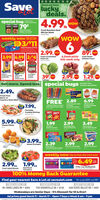 SaveCheck out theseluckydeals.special buy1794.99Lned twowMANWC MANNICHunts ManwichSloppy Joe SauceFresh Boneless BeefRib Eye SteakFamily Packweekly wowWOWbig savings3/$112.99.FINALPepsi Products 12 Pack89owwow3.99|6.99||2/$4Fresh Corned BeefPoint Cut6 fresh picks Fresh WholeChicken Fryersthis week onlywas 2905IbbagbagCeston'sPepperoni Piena sate StreetSnack oFarmingtonCockta2.99. 1.29.Red PotatoesSmokleswowwowPoutryChicken WingsCabbageYellow OnionsGet more. Spend less. special buys2.49ibLimited time.Limited quantities.Fresh PorkBone-inCountry Style Ribs6.99FREE 2.89Krat velveeta ShaeHaire Farm7.99..wan s0 Man ebate DeeKool Pops Freeser Pope Macaroni s CheeneSmoked Sausageor PolskabagPortsideCooked Shrimp. 2630CHEE CHEELT5.99.3.49ea pkos1.992.99Tilapia FilletsChef BoyardeeCheese Piza itCheea-tOscar MayerLunch Meat zip PakSnack CrackersSMICKERSwix3.99.0.AMObagNavel Oranges 2.392.992.99Parkay Tub SpreadChips AhoyChocolate Chip CooklesMars ice Cream Barsweekly wow big savings this week only!packthisweekwas6.992.99.c. 1.99..r 6.49.Fresh Salad Blends5 Aorted vetiesBeefsteakTomatoesFrito-Lay MultipacksweDAte vae100% Money Back GuaranteeFind your nearest Save A Lot at savealot.comWe accept SNAP and EBT.CROSS LANES, WV901 CROSS LANES DR  45054SISSONVILLE WV7703 SISSONVILLE DR  45103SCOTT DEPOT, WV6420 TEAYS VALLEY RD  24947Wednesdays are Senior Days - 5% Discount for 55 & Over!Ad prices good March 11- March 17- Open 7 Days a Week 8 am - 9 pm020Moran foods. UC Al Save Check out these lucky deals. special buy 179 4.99 Lned t wow MANWC MANNIC Hunts Manwich Sloppy Joe Sauce Fresh Boneless Beef Rib Eye Steak Family Pack weekly wow WOW big savings 3/$11 2.99. FINAL Pepsi Products 12 Pack 89 ow wow 3.99|6.99||2/$4 Fresh Corned Beef Point Cut 6 fresh picks Fresh Whole Chicken Fryers this week only was 2 90 5Ib bag bag Ceston's Pepperoni Piena sate Street Snack o Farmington Cockta  2.99. 1.29. Red Potatoes Smokles wow wow Poutry Chicken Wings Cabbage Yellow Onions Get more. Spend les