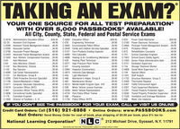 TAKING AN EXAM?YOUR ONE SOURCE FOR ALL TEST PREPARATION®WITH OVER 5,000 PASSBOOKS® AVAILABLE!All City, County, State, Federal and Postal Service Exams$49.95.39.95C-653C-3318 Administrative Education OfficerCC-33$49.95..49.95C-3050 Education OfficerPower Cable Maintainer$39.95.39.95Assistant Civil Engineer.C-235 Engineering Technician .C-3945 Environmental Police OfficerC-3180 Power Electronic Technician..C-3280 Assistant Transit Management Analyst .49.95C-2005 Associate Cashier..C-3790 Associate Project Manager.C-3423 Associate Transit Managemet Analyst . .49.95C-1643 Asst. Workers' Compensation Examiner . .39.95C-6339.95..34.95.49.95C-3549 Family and Children Services Specialist . .39.95C-3137 Farm Products Grading InspectorC-4894 Principal Transit Management Analyst .49.95C-619C-672Probation OfficerRehabilitation Counselor39.9549.95.49.95School Custodian-EngineerC-4909 Fish CulturalistC-4896 Heating & Air Conditioning Maintainer .49.95C-329.49.95C-701C-1923 School Guard (Safety Agent)C-1020 Senior Police Administrative Aide.C-2151 Sanitation SupervisorC-73449.9539.95Auto Mechanic..39.95Heating Plant Technician.39.9539.95C-64C-124C-102Auto Mechanic (Diesel)Bus Maintainer, ChassisBus OperatorC-4095 Call Center RepresentativeCar Maintainer, Group BC-3295 Child Protective Services SpecialistC-1195 Cleaner/Maintainer's Helper..C-2471 Computer Associate (Operations)C-3019 Correction Officer (NYC)..39.95..39.95.39.95C-3277 High Pressure Plant TenderC-331.39.9539.95Housing Assistant.39.9549.95Sewage Treatment Worker39.95.49.95C-2994 Inspector (Construction).C-3873 Intensive Case ManagerC-444C-466C-4908 Social Work Supervisor I, IIC-749C-1551 Staff AnalystC-1732 Structure Maintainer, Group DC-3408 Thermostat RepairerC-2407 Traffic Enforcement AgentC-3307 Track Equipment MaintainerC-2397 Transit Property Protection AgentC-3593 Transit Property Protection Supervisor . .39.95C-1528 Ventilation and Drainage Maintainer...C-898Special Officer..39.95..39.9549.9539.9539.9539.9549.