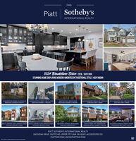 OnlyPiatt Sotheby'sINTERNATIONAL REALTY3024 Brookstone Drive CECILI $657,900STUNNING HOME DISPLAYING MODERN AMENITIES IN TRADITIONAL STYLE HEDY KRENN76 MOSIER HILL ROAD | CLAYSVILLE$650,000 | DOREEN LEICHTY1818 WHARTON STREET I SOUTH SIDE$625.000 | GARRETT FREUND1819 FOX WAY | SOUTH SIDE$530.000| GARRETT FREUND618 KINGSBERRY CIRCLE I MT. LEBANON$399.500 | MATT SWAB2411 LONGCREST AVE. | BETHEL PARK$257.500 | MATT SWABZEKE'S LANDING |422 CLARENCE STREET ZEKE'S LANDING | 424 CLARENCE STREET$379.900 | MICHELE LEONE505 GRANT AVENUE I HEIDELBERG$99.900 | KRISTEN ELKVUES ON NEFF | MT. WASHINGTONFROM MID S700s |GARRETT FREUNDELEVENO6 CONDOS | NORTH SHOREFROM $209.900| MATT GILLEY$379.900 | MICHELE LEONEPIATT SOTHEBY'S INTERNATIONAL REALTY100 SIENA DRIVE, SUITE 240, UPPER ST CLAIR, PA 15241 | 412.822.6700 (0)PIATTSIR.COM | INFO@PIATTSIR.COMEach Ofice is Idependently Owned and Operated Only Piatt Sotheby's INTERNATIONAL REALTY 3024 Brookstone Drive CECILI $657,900 STUNNING HOME DISPLAYING MODERN AMENITIES IN TRADITIONAL STYLE HEDY KRENN 76 MOSIER HILL ROAD | CLAYSVILLE $650,000 | DOREEN LEICHTY 1818 WHARTON STREET I SOUTH SIDE $625.000 | GARRETT FREUND 1819 FOX WAY | SOUTH SIDE $530.000| GARRETT FREUND 618 KINGSBERRY CIRCLE I MT. LEBANON $399.500 | MATT SWAB 2411 LONGCREST AVE. | BETHEL PARK $257.500 | MATT SWAB ZEKE'S LANDING |422 CLARENCE STREET ZEKE'S LANDING | 424 CLARENCE STREET $379.900 | MICHELE LEONE 505 GRANT AVENUE I HEIDELBERG $99.900 | KRISTEN ELK VUES ON NEFF | MT. WASHINGTON FROM MID S700s |GARRETT FREUND ELEVENO6 CONDOS | NORTH SHORE FROM $209.900| MATT GILLEY $379.900 | MICHELE LEONE PIATT SOTHEBY'S INTERNATIONAL REALTY 100 SIENA DRIVE, SUITE 240, UPPER ST CLAIR, PA 15241 | 412.822.6700 (0) PIATTSIR.COM | INFO@PIATTSIR.COM Each Ofice is Idependently Owned and Operated