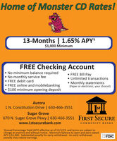 """Home of Monster CD Rates!13-Months 