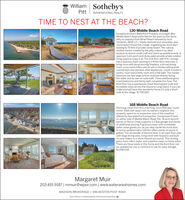 William Sotheby'sPittINTERNATIONAL REALTYTIME TO NEST AT THE BEACH?130 Middle Beach RoadExceptional Direct Waterfront Property on sought afterMiddle Beach Road protected for 116 years by the stonejetty on peaceful East Wharf Beach beloved by localresidents. 3600 s.f.+, totally restored and renovated, yearround beach house has a large, irrigated grass front lawnleading to 75 feet of private sandy beach. The naturalshallow harbor created by the jetty makes it an ideallocation to launch small craft and stand up paddle boards. Aspacious front porch and stone patio provide ample outdoorliving space to enjoy it all. The first floor with 9 ft+ ceilingshas a spacious foyer opening to a three story staircase, aliving room with wood burning fireplace, a formal diningroom, a sun room/office and an eat-in kitchen with granitecountertops and stainless steel appliances, a built in butler'spantry, mud room/utility room and a half bath. The masterbedroom has two large picture windows directly facingthe water and its own en suite bath. Three additional goodsized bedrooms and family bath complete this floor. Thethird floor has a spectacular Great Room/guest suite andincredible views across the Sound to Long Island. If you canmake yourself leave this wonderful home it's only a shortwalk to the village. S1,795.000168 Middle Beach RoadStunning views from this charming circa 1918 year roundhome. Sited well away from its eastern neighbor, thisproperty opens to an expansive view of the coastlineoffered by few waterfront properties. Comprised of landon either side of Middle Beach Road, the 14 acre secondparcel on Fence Creek supports a 2 Bay garage and plentyof additional parking. A gracious foyer with immediatewater views greets you as you step inside the front door.A roomy updated eat in kitchen offers plenty of space togather. The remainder of the first floor is an open floor planwith large dining area. living room with fireplace and builtins and sliders to a stone floored sun porch. Thi