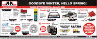 GOODBYE WINTER, HELLO SPRING!AUTO STORESTeer Hemetown Aute Parts Stere Slsce 19SAVINGS EFFECTIVE NOW Thru March 31, 2020BRAKEDORMAN LINE KITSStonerTRAILFXSOFT TONNEAU COVER No tools required for assembly Instals in minutesSPEEDFX)BULL BAR Stainless steel DE replacement With pre-bent7 brake Iines Easy no dilinstallation; bolt-en Hales for optionalighting!DISTRIBUTORGassFor use with 262-454 cubicINVISIBLE GLASSCLEANERinch big block/smal blockChevrolet engines$8999Part Me. S16s $39919 oz.Pat le Bos $32499$6899Part No. 919107ea.ea.fea.Part No. 3100Rea.9 SPYDERLEDLIGHTINGINCOME TAX REFUND SPECIAL!GRILL OVERLAY WHEEL SKINSBUY 4Give your plain paintedfactory wheels,a expensive customAmerican ULTRA LIGHT TRUCKRacingSAVE$4000 wed kek10%OFFWHEEL COMPANYWHEELS ORDickEPEKTIRES -WE'LLPAY THE PASALES TAXMICKEY THOMPSONM/TPart No. CCIIMPOSX$9995TIRESWHERLSPart Me. C2CGn2 $9995Tea.set of 4PROMO CODE: MAR20*IN-STORE ONLYGet Weekly Specials Sent Directly to Your Inbox: Text AAAUTOSTORES TO 22828  www.aaautostores.comCopyright c2020. Al rights reserved. All text, graphics, pictures, logos, and the selection and arrangement thereat is the exclusive property of the Publisher or ts content Supplier. No porton of this add, including images, may be reproduced in any form without prior witen oconsent of the Publisher. Vlid thu March 31st GOODBYE WINTER, HELLO SPRING! AUTO STORES Teer Hemetown Aute Parts Stere Slsce 19 SAVINGS EFFECTIVE NOW Thru March 31, 2020 BRAKE DORMAN LINE KITS Stoner TRAILFX SOFT TONNEAU COVER  No tools required for assembly  Instals in minutes SPEEDFX) BULL BAR  Stainless steel  DE replacement  With pre-bent 7 brake Iines  Easy no dil installation; bolt-en  Hales for optional ighting ! DISTRIBUTOR Gass For use with 262-454 cubic INVISIBLE GLASS CLEANER inch big block/smal block Chevrolet engines $8999 Part Me. S16s $399 19 oz. Pat le Bos $32499 $6899 Part No. 919107 ea. ea. fea. Part No. 3100R ea. 9 SPYDER LED LIGHTING INCOME TAX REFUND SPECIAL! GRILL OVERLAY WHEEL SKINS BUY 4 Give your plain painted factory wheels, a expensive custom American ULTRA LIGHT TRUCK Racing SAVE $4000 wed kek 10% OFF WHEEL COMPANY WHEELS OR Dick EPEK TIRES -WE'LL PAY THE PA SALES TAX MICKEY THOMPSON M/T Part No. CCIIMPOSX $9995 TIRESWHERLS Part Me. C2CGn2 $9995 Tea. set of 4 PROMO CODE: MAR20 *IN-STORE ONLY Get Weekly Specials Sent Directly to Your Inbox: Text AAAUTOSTORES TO 22828  www.aaautostores.com Copyright c2020. Al rights reserved. All text, graphics, pictures, logos, and the selection and arrangement thereat is the exclusive property of the Publisher or ts content Supplier. No porton of this add, including images, may be reproduced in any form without prior witen oconsent of the Publisher. Vlid thu March 31st